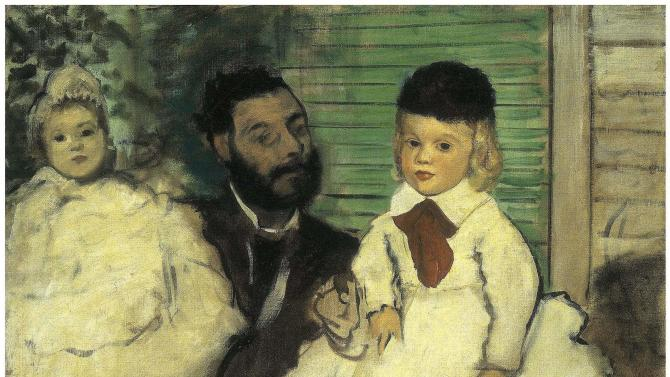 """FILE -In this undated file photo released Monday Feb. 11, 2008 by Swiss Police, a reproduction of the Edgar Degas painting """"Ludovic Lepic and his Daughter"""", one of four paintings by major artists which were stolen from the private E.G. Buehrle Collection, in Zurich, Switzerland. A Rotterdam museum art heist this week netted paintings by Pablo Picasso, Claude Monet, Henri Matisse and others — but it's not the first time that money-conscious thieves with an eye for beauty have targeted famous multimillion-dollar canvasses. (AP Photo/Keystone, Stadtpolizei Zuerich via Foundation E.G. Buehrle Collection, File) MANDATORY CREDIT"""