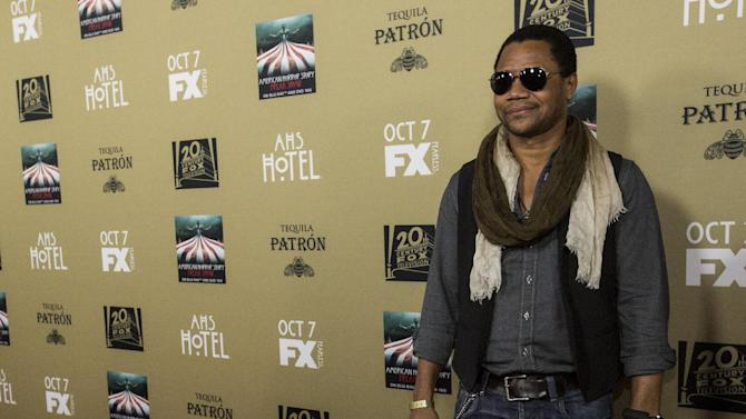 """Actor Gooding, Jr. poses at a premiere screening of """"American Horror Story: Hotel"""" in Los Angeles"""