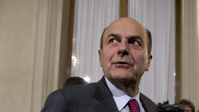 Democratic Party, PD, leader Pierluigi Bersani leaves after talks with Italian President Giorgio Napolitano on the formation of a new government, in Rome's Quirinale presidential palace, Thursday, March 21, 2013. Fresh elections could soon be called if President Napolitano, after consultations on Wednesday and Thursday, decides no one can muster a reliable enough majority in Parliament to enact the economic and electoral reforms needed to pull Italy out of recession and improve future prospects for stable governments. (AP Photo/Andrew Medichini)