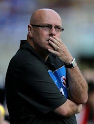 Brian McDermott, pictured, felt Demba Ba's equaliser was a 'blatant' handball