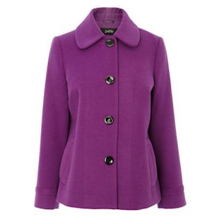Purple Petite Single Breasted Coat BHS