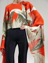 The Wes Gordan Spring 2013 collection is modeled during Fashion Week, Monday, Sept. 10, 2012, in New York. (AP Photo/Lisa Tolin)