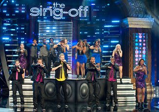 The final four &quot;Sing-Off&quot; groups tackled mastermixes last night (Lewis Jacobs/NBC)
