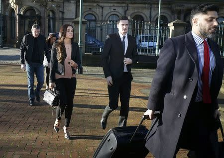 Sunderland soccer player Adam Johnson arrives at Bradford Crown Court in Bradford