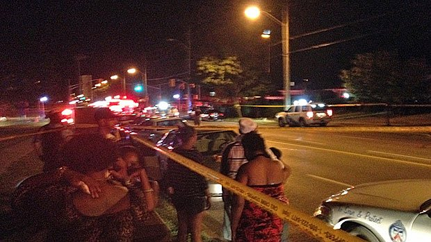 The shooting erupted at a party near Morningside Avenue and Lawrence Avenue East before 11 p.m. ET Monday.