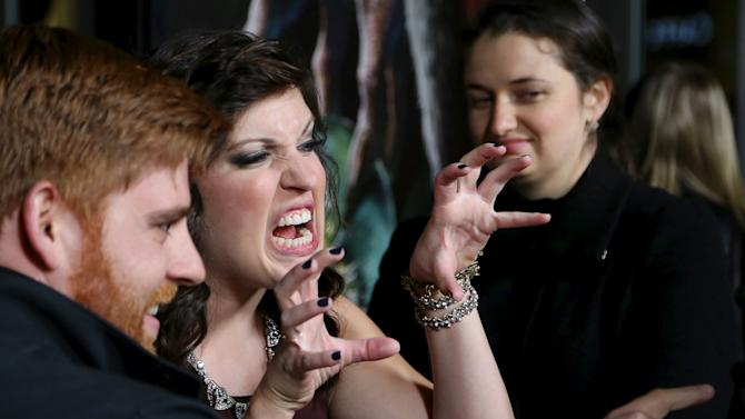 Actor Allison Tolman attends the industry premiere of the movie Krampus in Los Angeles