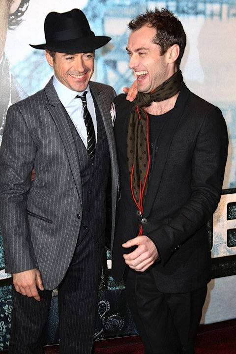 Sherlock Holmes UK Premiere 2009 Robert Downey Jr. Jude Law