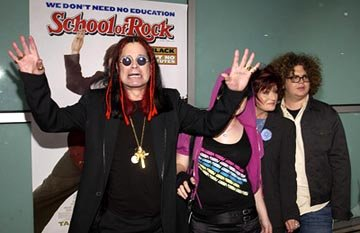 Ozzy Osbourne , Kelly Osbourne , Sharon Osbourne and Jack Osbourne at the LA premiere of Paramount's The School of Rock