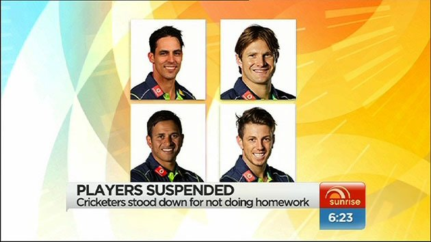 Cricket stars suspended