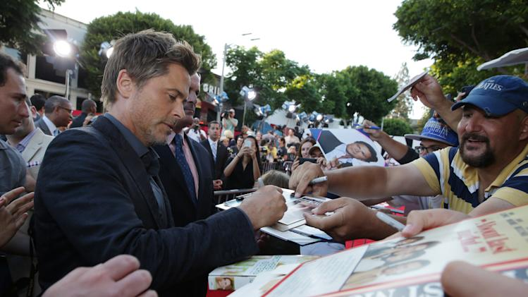 Rob Lowe seen at Columbia Pictures 'Sex Tape' World Premiere held at Regency Village Theatre, on Thursday, July 10, 2014, in Westwood, Calif. (Photo by Eric Charbonneau/Invision for Sony Pictures/AP Images)