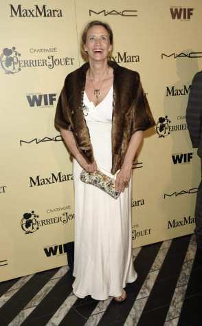 Actress Janet McTeer arrives at the Women In Film 2012 Academy Award Party in West Hollywood, Calif. on Friday, Feb. 24, 2012. (AP Photo/Dan Steinberg)