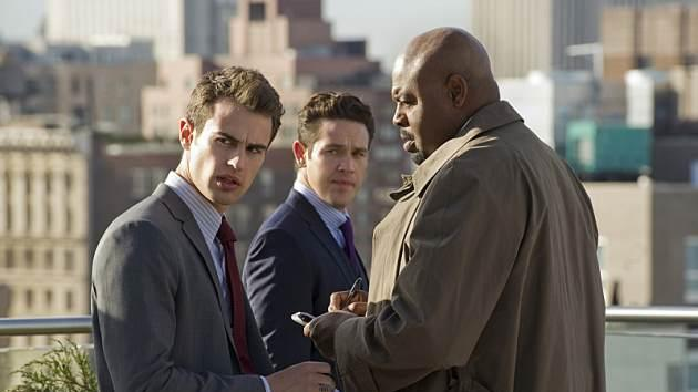 Theo James as Clark, Kevin Alejandro as Arroyo and Chi McBride as Owen in CBS' 'Golden Boy' -- CBS