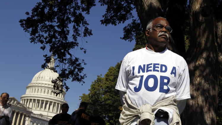 Mervin Sealy from Hickory, North Carolina, takes part in a protest rally outside the Capitol Building in Washington