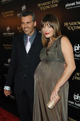 Oded Fehr and Milla Jovovich at the Planet Hollywood Las Vegas premiere of Screen Gem's Resident Evil: Extinction