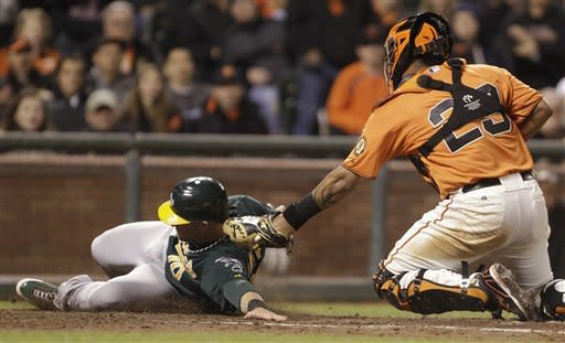 Zito beats old A's team as Giants win 8-6