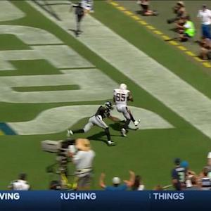 San Diego Chargers tight end Antonio Gates catches 8-yard touchdown pass from quarterback Philip Rivers