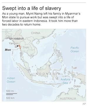 Map locates Yon state in Myanmar; 2c x 4 inches; 96.3 …