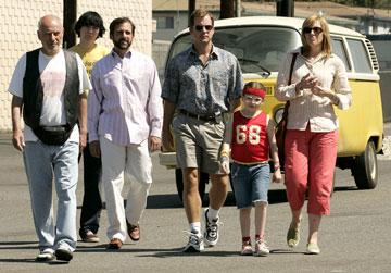 Alan Arkin , Paul Dano , Steve Carell , Greg Kinnear , Abigail Breslin and Toni Collette in Fox Searchlight Pictures' Little Miss Sunshine