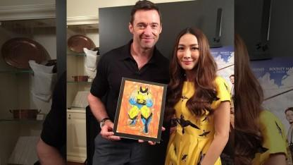 Hugh Jackman Honors Late Fan Who Painted Wolverine Image With Just His Mouth