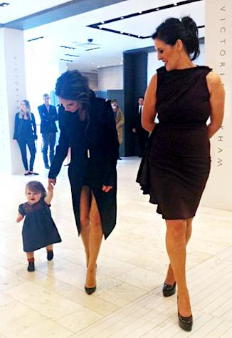 Aww! Harper Beckham, 12 Months, Is Walking