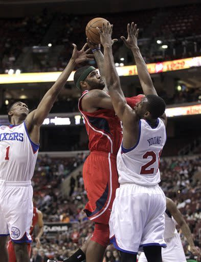 Hawks rout 76ers 124-101 to end 3-game skid