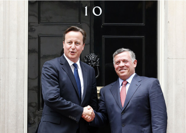 Cameron meets the King of Jordan