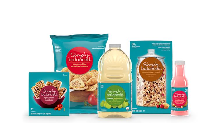 This undated photo provided by Target Corp., shows a new organic and natural store brand called Simply Balanced. The line is an outgrowth of similar products within its existing Archer Farms store brand, which is positioned as a premium alternative to national name brands. (AP Photo/Target Corp.)