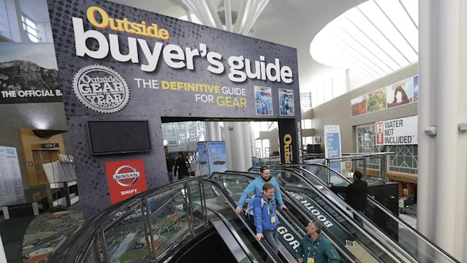 The Outdoor Retailer show is shown Tuesday, Jan. 22, 2013, in Salt Lake City. The Outdoor Retailer show, which kicks off this Wednesday at the Salt Palace Convention Center, draws more than 25,000 people and pours more than $40 million into Utah's economy every year. One of the world's largest outdoor gear trade shows will remain in Salt Lake City at least through 2016. The shows were previously contracted to stay through 2014. (AP Photo/Rick Bowmer)