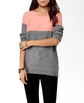 Colorblocked Raglan Sweater