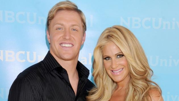 Kim Zolciak and Kroy Biermann arrive at the 2012 NBC Universal Summer Press Day at The Langham Huntington Hotel and Spa in Pasadena, Calif. on April 18, 2012 -- Getty Premium