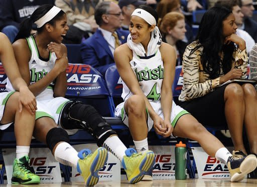 Notre Dame women beat Louisville in Big East semis