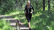 Jasper resident Kirsten Boisvert was running with her dog Kona on a wooded trail near town last month when she came face to face with a grey wolf.