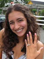 Writer Paulette Safdieh after she got engaged.