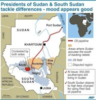 &lt;p&gt;A map of Sudan and South Sudan locating main oil blocks, pipeline and oil towns of Heglig and Bentiu. Frantic efforts to broker a deal on festering disputes between Sudan and South Sudan made little headway on the third day of a presidential summit in the Ethiopian capital.&lt;/p&gt;