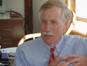 Former Maine Governor Angus King is pictured in undated photograph