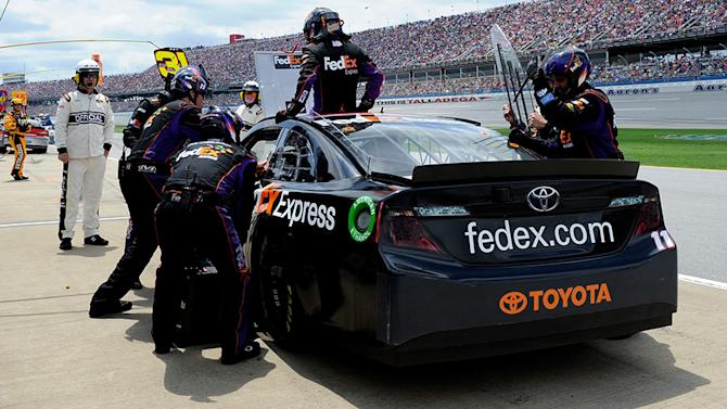 Hamlin's early Talladega exit goes as planned