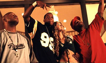 Gerald Kelly , Jay-Z, Devon Aoki and Damon Dash in TLA's Death of a Dynasty
