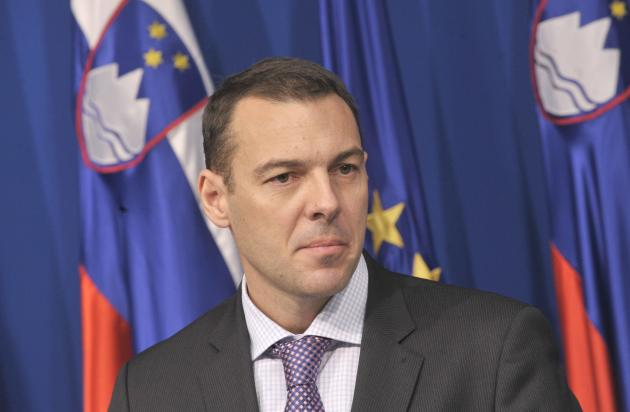 Slovenia's Finance Minister Cufer speaks during a news conference in Ljubljana