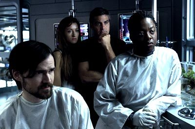 Jeremy Davies , Natascha McElhone , George Clooney and Viola Davis in 20th Century Fox's Solaris