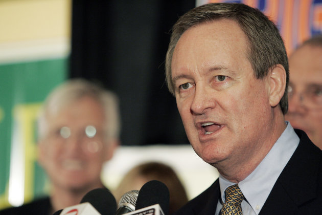 FILE - In this Nov. 2, 2010 file photo, U.S. Sen. Mike Crapo, R-Idaho, gives his victory speech at the Republican Party election headquarters held at the Doubletree Riverside Hotel in Boise, Idaho. Crapo, who was arrested Sunday, Dec. 23, 2012 on suspicion of drunken driving, doesn't plan to fight the charges when he appears in court in January, a spokesman said Friday. (AP Photo/Matt Cilley, File)