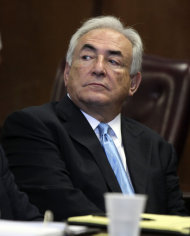 Former International Monetary Fund leader Dominique Strauss-Kahn listens to proceedings in New York State Supreme court , Friday, July 1, 2011, in New York. A judge has agreed to free former International Monetary Fund leader Strauss-Kahn without bail or home confinement in the sexual assault case against him. The criminal case against him stands. (AP Photo/Todd Heisler, Pool)