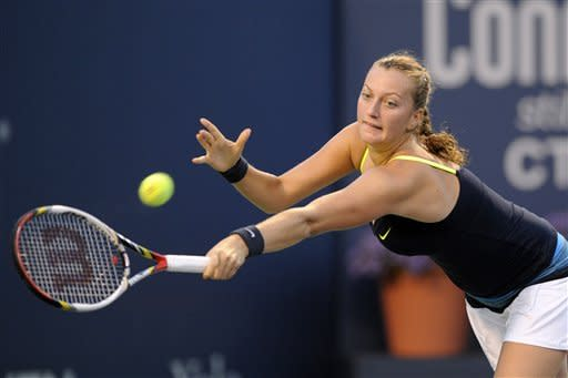 Kvitova wins, Wozniacki retires in New Haven