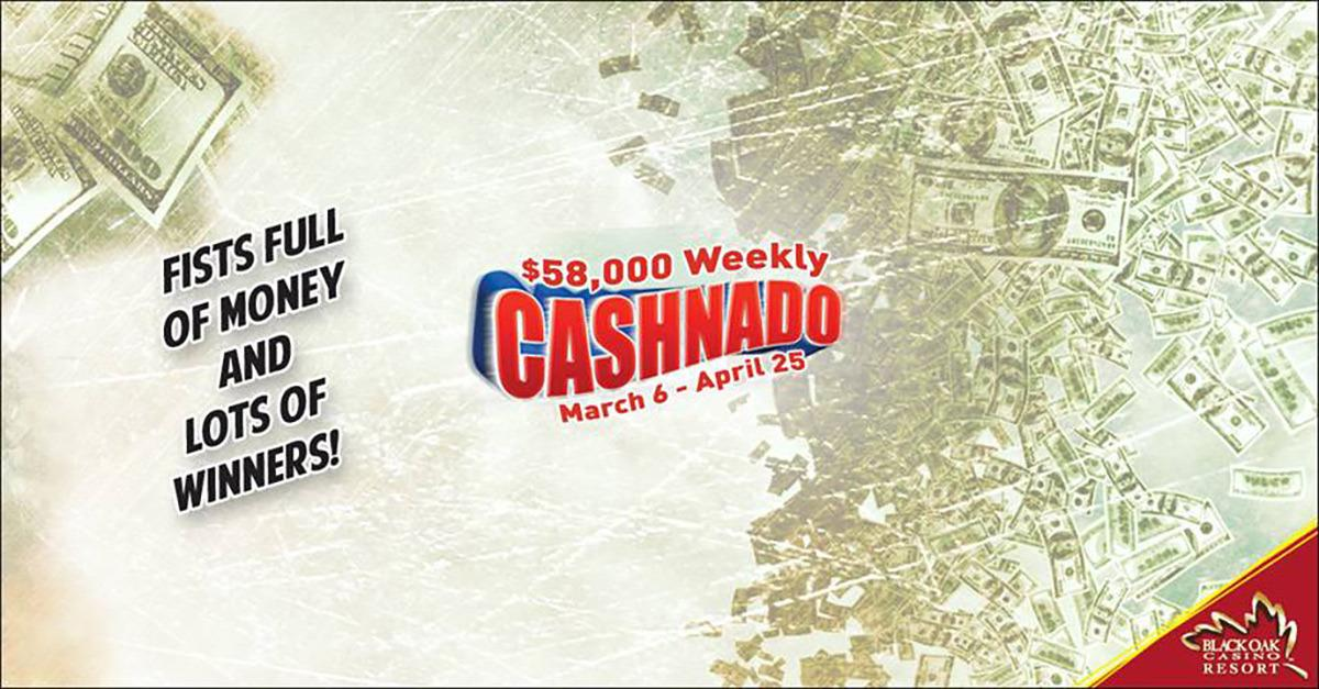 Grab your share of $58,000 weekly in CASHNADO!