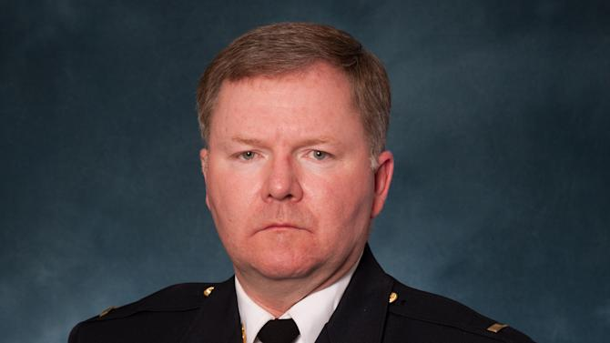 """This undated picture provided by the Oak Creek Police Department shows Lt. Brian Murphy. Murphy, 51, is a 21-year veteran with the Oak Creek Police Department. Police Chief John Edwards said the gunman in the Sikh temple shooting """"ambushed"""" Murphy, one of the first officers to arrive at the temple as the officer tended to a victim outside, shooting him eight to nine times with a handgun at close range. A second officer then exchanged gunfire with the gunman, who was fatally shot. Murphy was in critical condition along with two other victims Monday, authorities said. (AP Photo/Oak Creek Police Department)"""