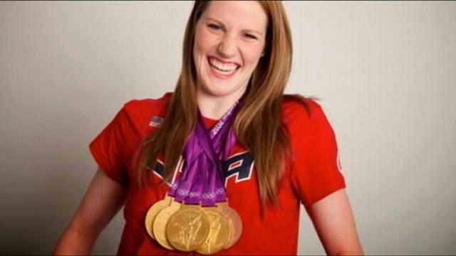 Gold Medalist Missy Franklin Competes in High School