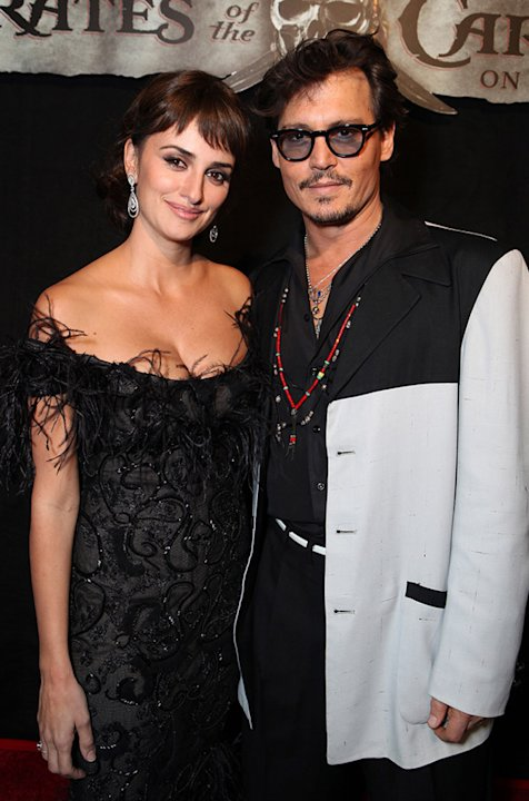 Pirates of the Caribbean On Stranger Tides LA Premiere 2011 Penelope Cruz Johnny Depp