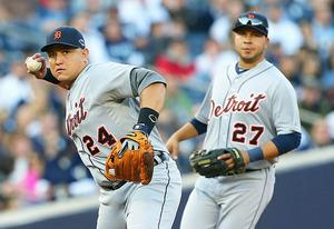 Miguel Cabrera and Jhonny Peralta of the Detroit Tigers | Photo Credits: Jim McIssac/Getty Images