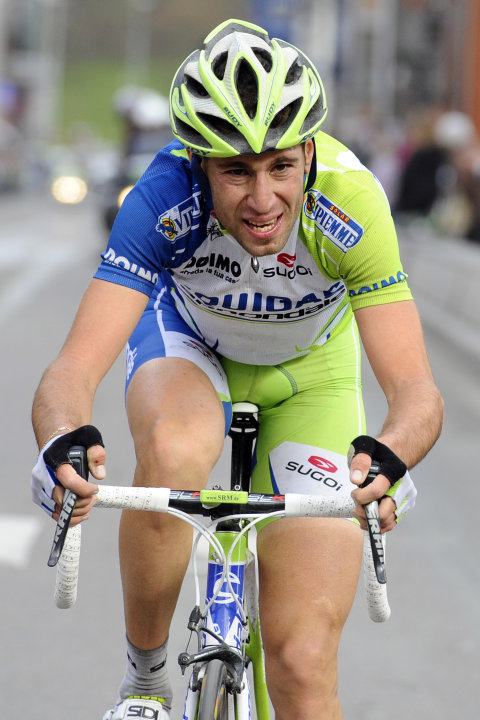 "Italian Vincenzo Nibali of Liquigas-Cannondale competes during the Liege-Bastogne-Liege, one day cycling race, 257,5 km for the 98th edition of the also called, ""Doyenne des classique"" race, on April"