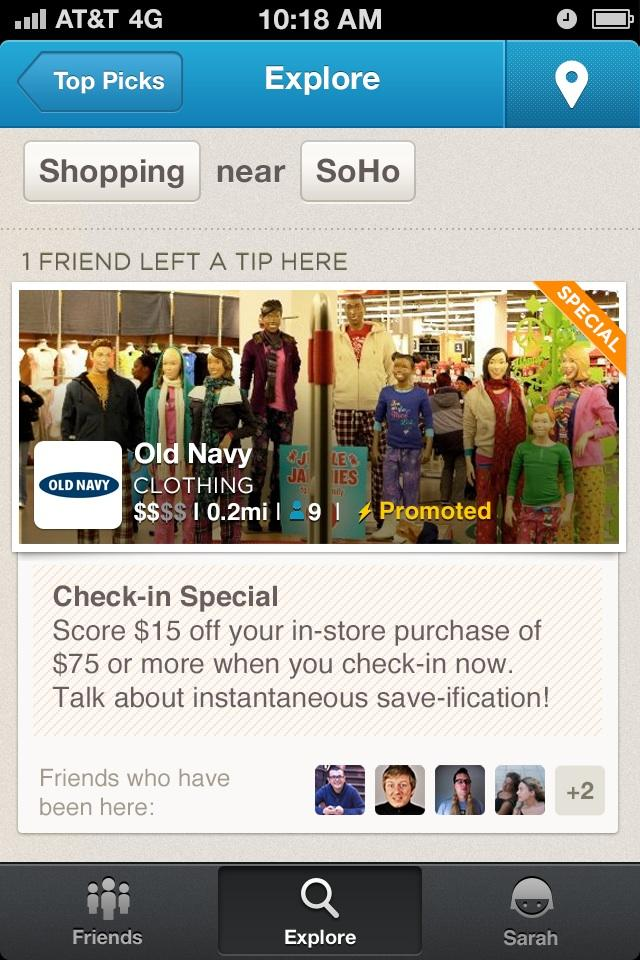 Foursquare Rolls Out First Ads