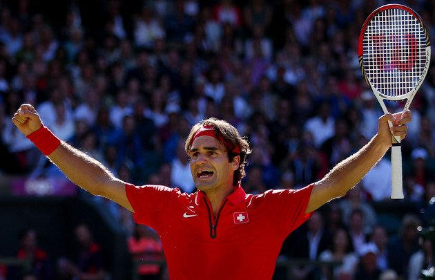 Federer advances to the gold medal game.